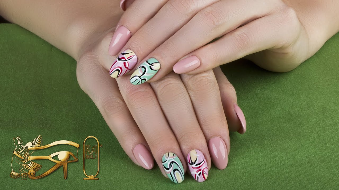 Ra Nails Spring 2015 - Graphic Nail Art - YouTube