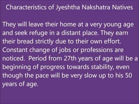 Jyeshtha Nakshatra Characteristics