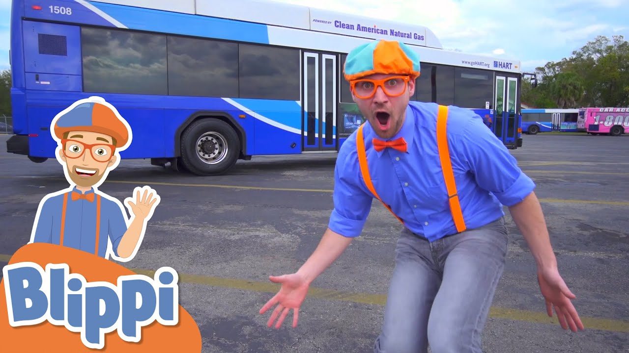 Blippi Explores A Bus! | Learn About Vehicles for Kids | Educational Videos For Toddlers