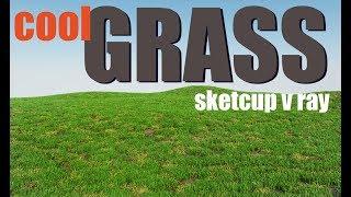 Норм трава в скетчап вирей и фур / grass sketchup v ray and fur