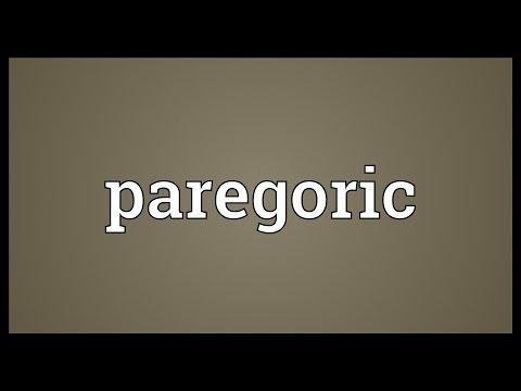 Paregoric Meaning