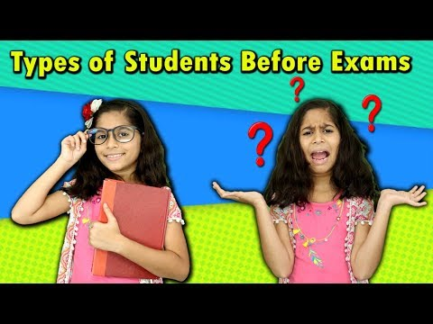 Types Of Students Before Exam | Funny Video | Pari's lifestyle