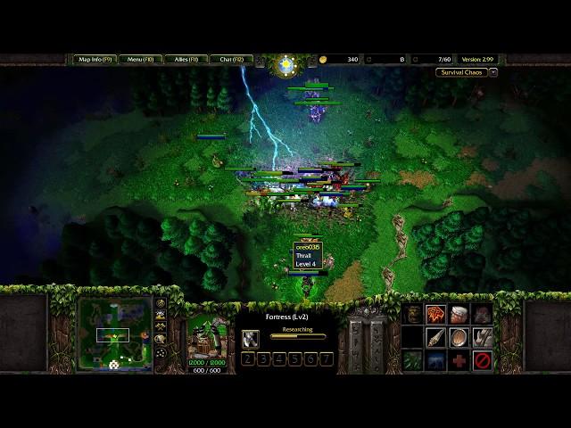 Warcraft 3: Survival Chaos #9 - Orc Frost Wolf Bonus!