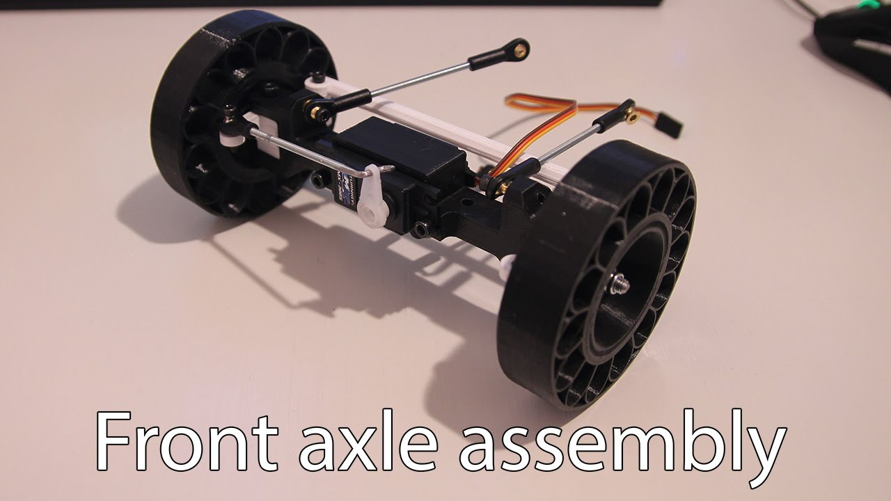 Truck Front Axle Assembly : D printed rc truck v front axle assembly youtube