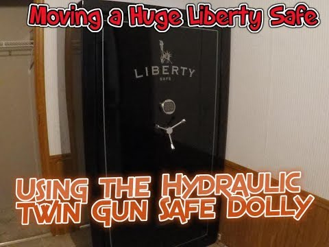 Moving A Huge Gun Safe With Hydraulic Twin Gun Safe Dolly