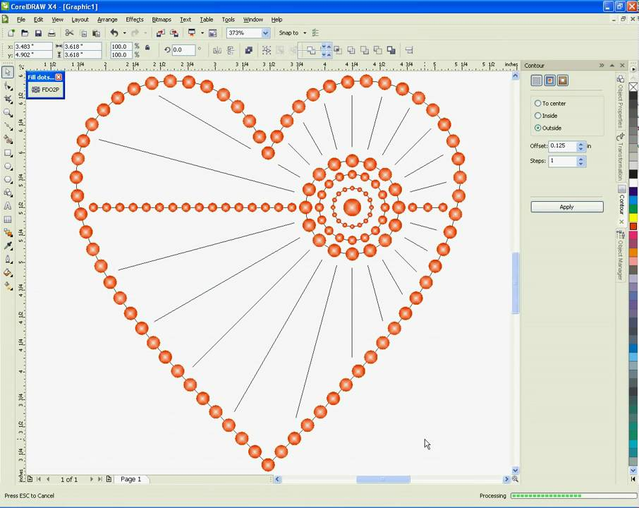 Offset Heart Dot Pattern