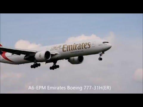 EPWA Warsaw Chopin Airport Plane Spotting 16.04.2016 - Boeing 777-31H(ER) i 787-8 Dreamliner