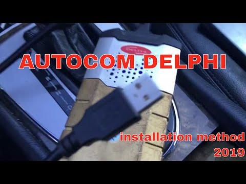 AUTOCOM DELPHI  Installation 2019