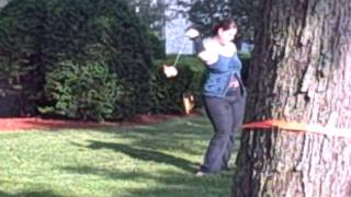 Repeat youtube video Woman pissing on tree