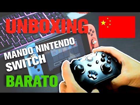Unboxing + review MANDO NINTENDO SWITCH BARATO AMAZON (chino)