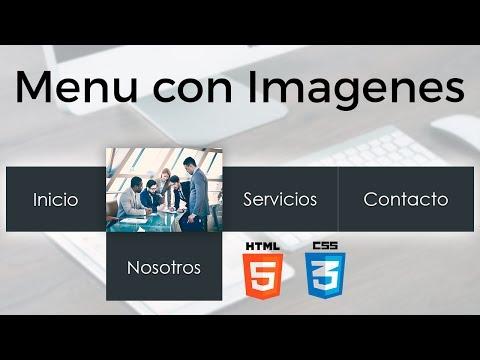 Como hacer un Menú animado con imágenes al pasar el mouse con HTML y CSS