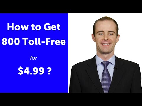 How To Get 800 TOLL-FREE Cheap  For $4.99 /month?