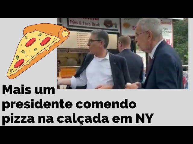 sddefault Presidente é flagrado comendo pizza na calçada em NY… mas desta vez não foi Bolsonaro! (veja o vídeo)
