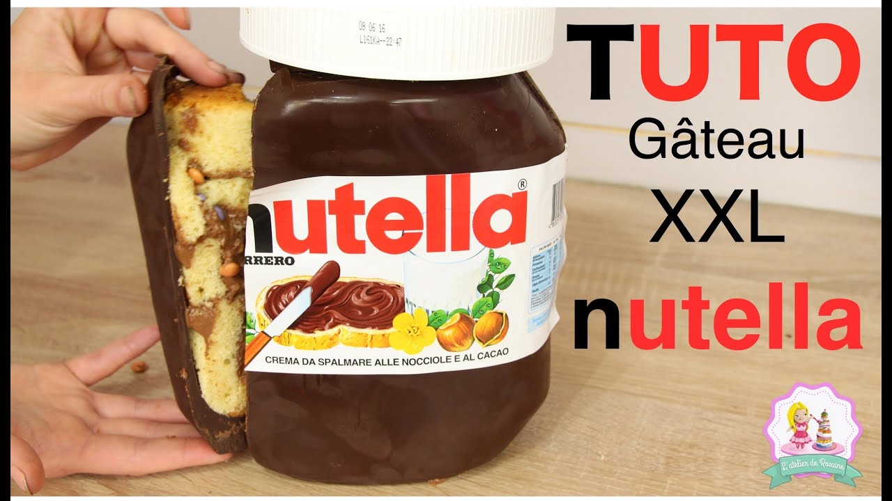 recette g teau nutella xxl nutella giant cake recipe youtube. Black Bedroom Furniture Sets. Home Design Ideas