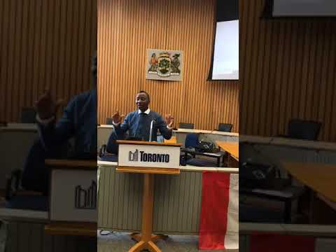 Mr Omoyele Sowore Town Hall Meeting in Toronto Canada.