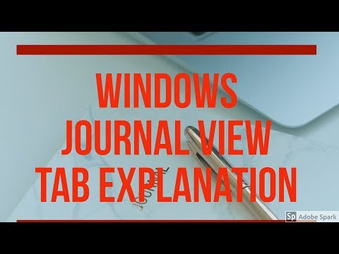windows journal application के  view tab के commands