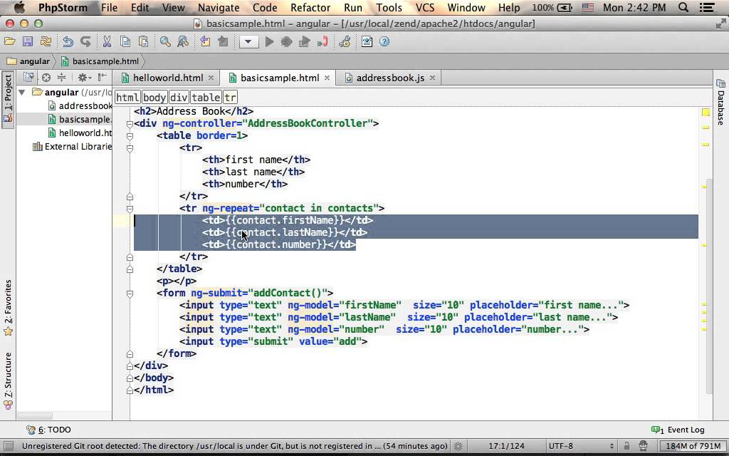 simple address book in angularjs youtube