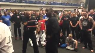 Michael Jai White Live Fighting Demo - Falcon Rising