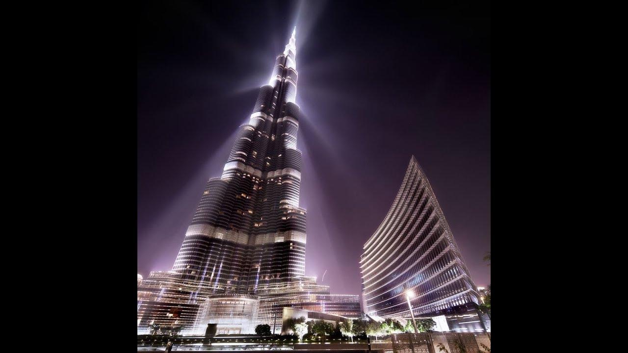 Dubai burj khalifa at night youtube for Best at dubai