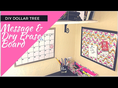 DIY Dollar Tree Push Pin Message Board/Dry Erase Board