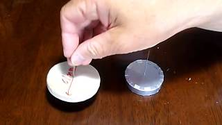 空き缶スターリングエンジン用 アルミ板ディスプレイサーの作り方