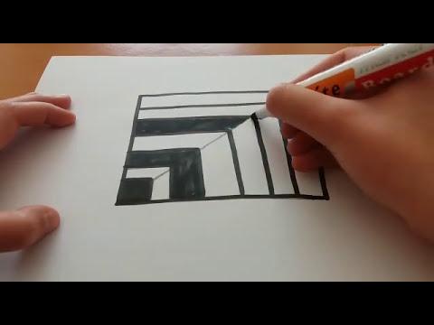 Dairesel Optik İllüzyon Çizimi - Drawing Optical Illussion Circle - How to Draw?