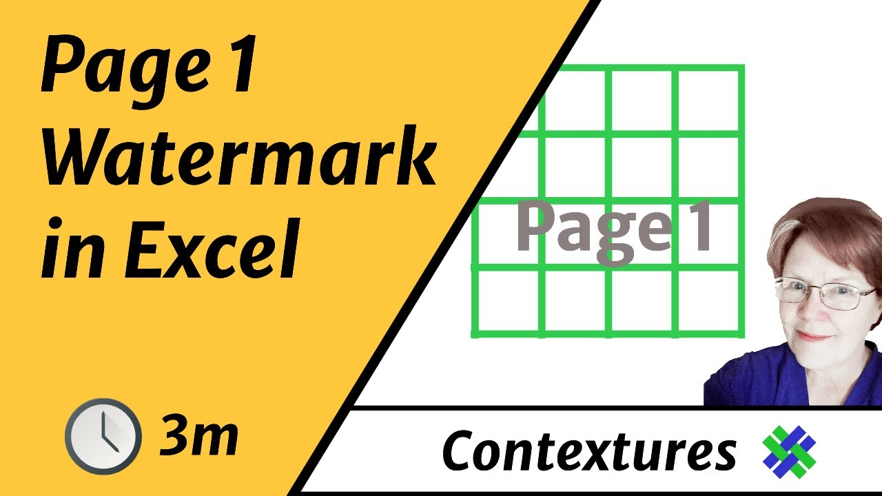 worksheet Excel Worksheet View what is the page 1 watermark on excel worksheet youtube