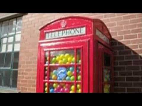 Phone Box full of balls, Hive Gallery, Elsecar, Barnsley