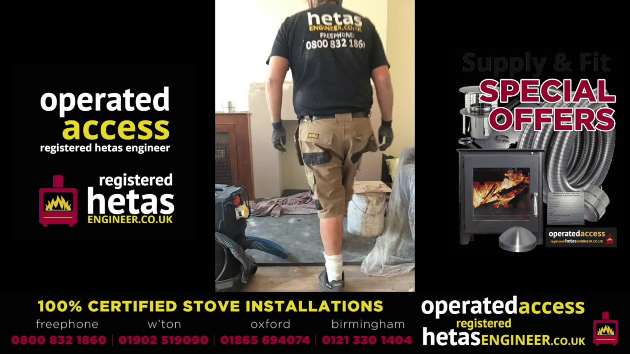 hetas installer wood burning stove and flue installation with