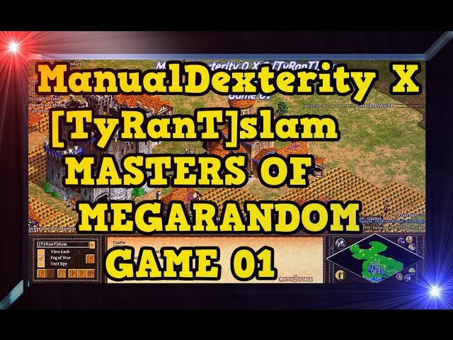 Age of Empires 2 ManualDexterity X TyRanTslam Game 01MoMR Round1 AoE2HD Gameplay PT BR