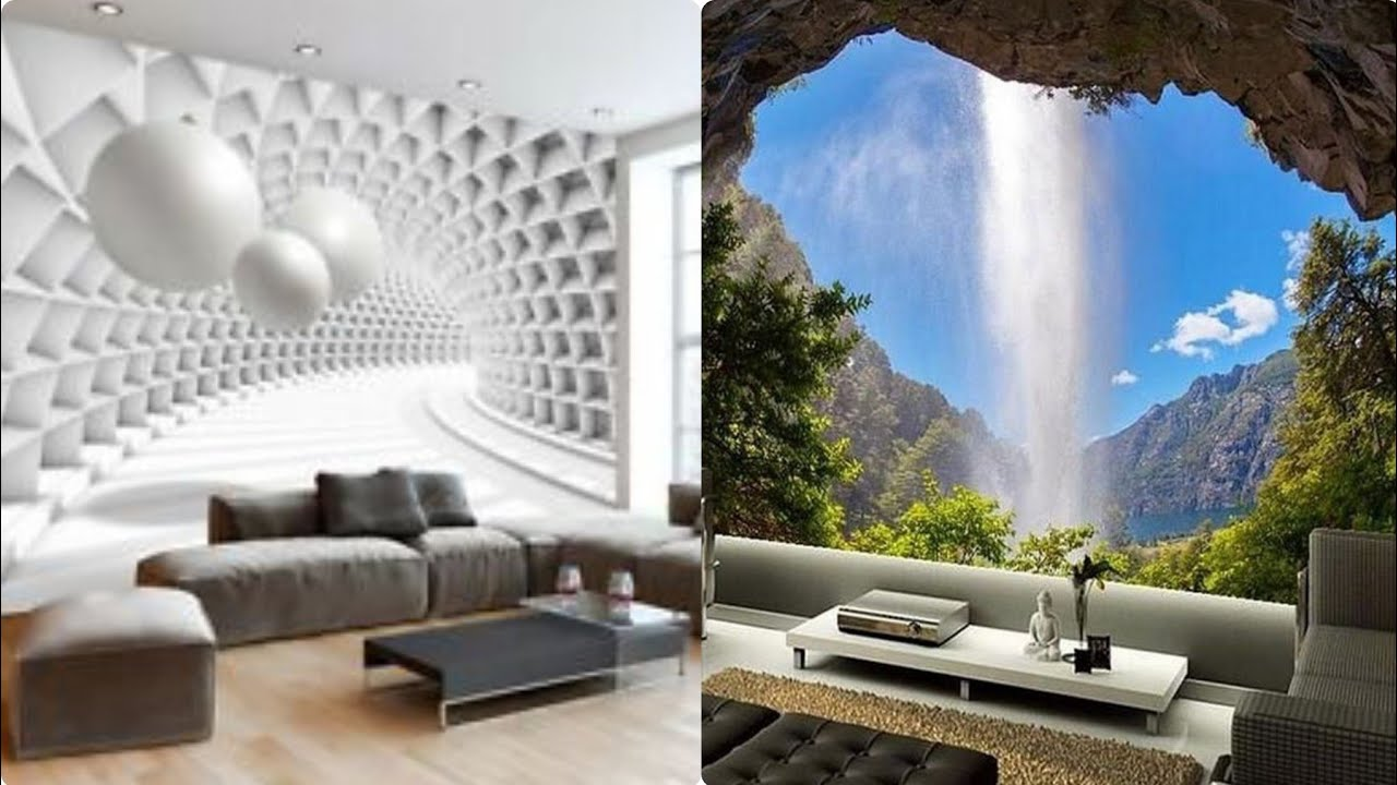 Unique 3d Wallpaper Designs For Your Living Room Youtube