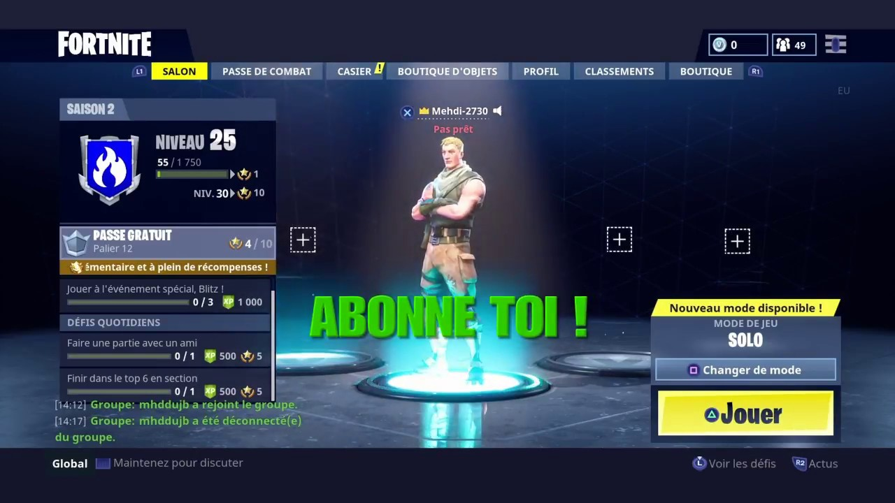 comment inviter ses amis sur ps4 fortnite battle royal youtube. Black Bedroom Furniture Sets. Home Design Ideas