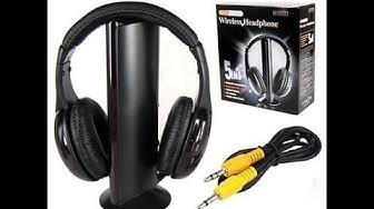 intex 5 in one wireless headphone unboxing