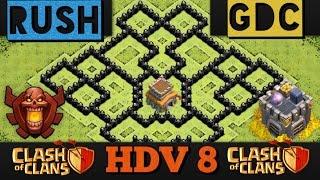 meilleur village hdv 8 rush et gdc   clash of clans speed building