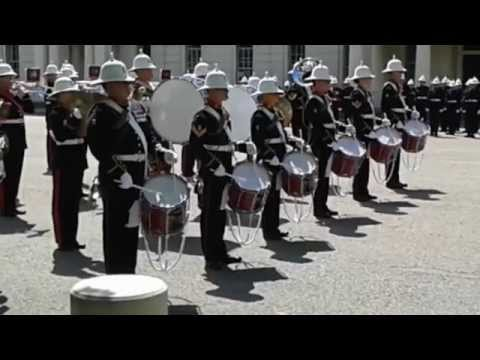 changing of the guard, royal marines first guard mount 17/6/2014