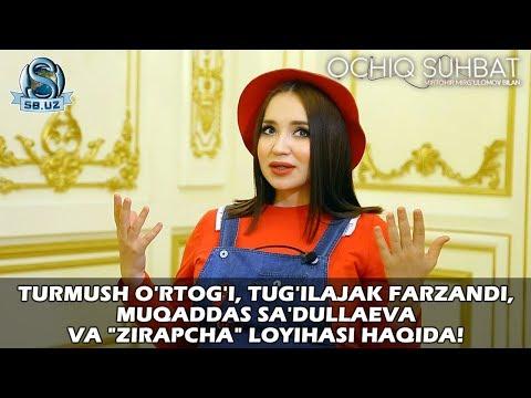 """Turmush o'rtog'i, tug'ilajak farzandi, Muqaddas Sa'dullaeva va """"Zirapcha"""" loyihasi haqida!"""