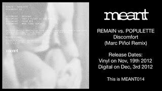 Remain vs Populette - Discomfort (Marc Pinol Remix)