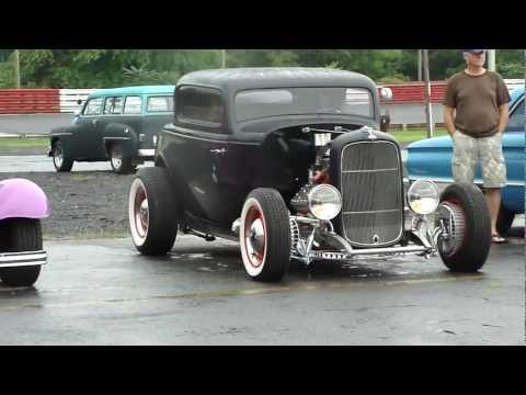 32 FORD COUPE * CRAZY FLATHEAD ENGINE 3-2's * OLD SCHOOL HOT ROD * BEAUTIFUL BLACK BEAUTY * WOW