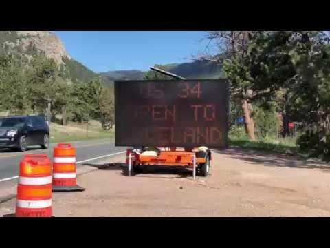 Highway 34- Loveland to Estes Park, Colorado is Finally Open