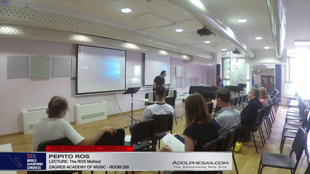 LECTURE: The ROS Method   Pepito Ros   XVIII World Sax Congress 2018 #adolphesax