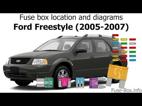 fuse box location and diagrams: ford freestyle (2005-2007) - youtube  youtube