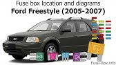 Fuse Box Location And Diagrams Ford Freestar 2004 2007 Youtube