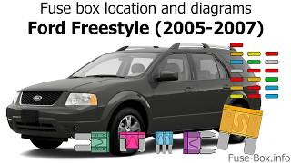 2005 Ford Freestyle Fuse Box Location Wiring Diagram Appearance A Appearance A Saleebalocchi It