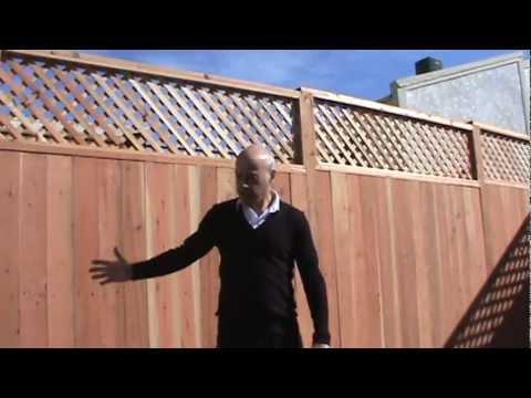 Lattice Top Redwood Fence