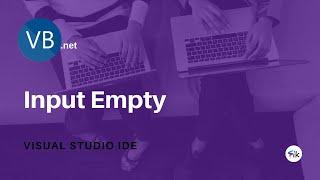VB.net : Validasi Sederhana Inputan Tidak Boleh Kosong (Harus Diisi) - Visual Studio IDE