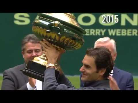 Roger Federer's 10 Championship Points And Trophy Lifts in Halle!