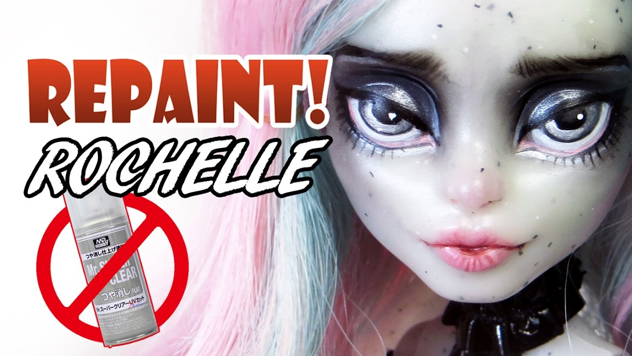 Repaint Haunted Rochelle No Mr Super Clear Matte Varnish Face Up Youtube