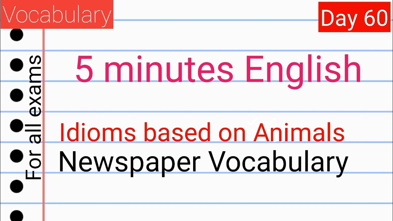 Vocabulary in Telugu 60 I animal related Idioms