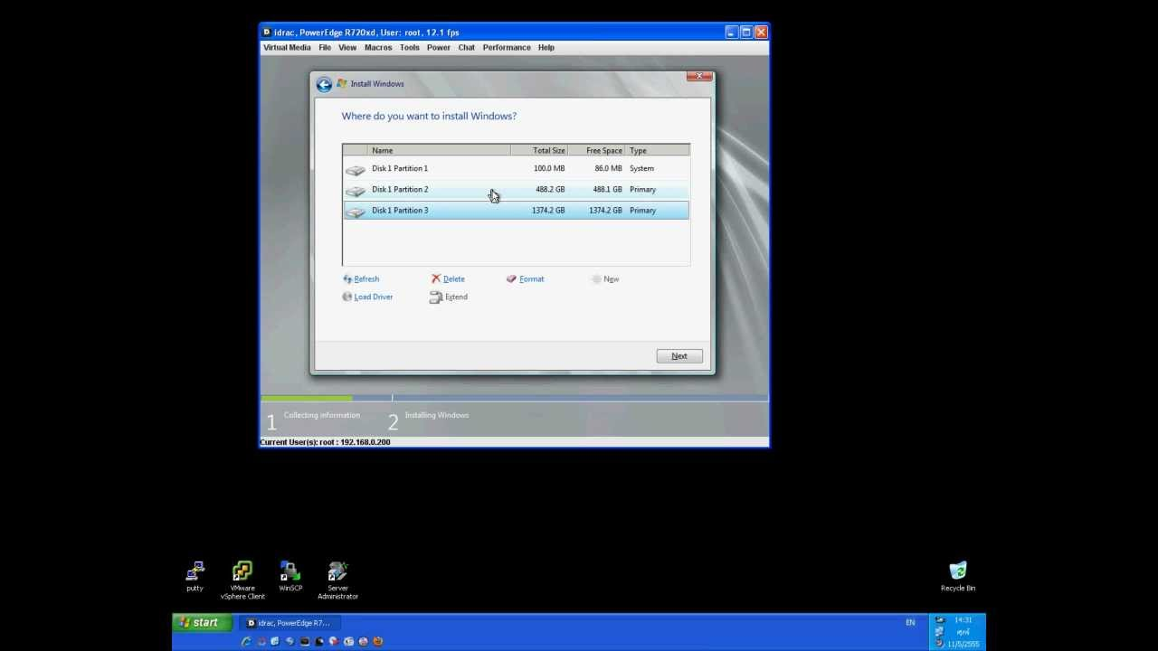 DELL Install OS w2k8 manual