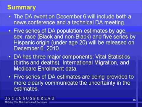 News Conference: 2010 Demographic Analysis Estimates